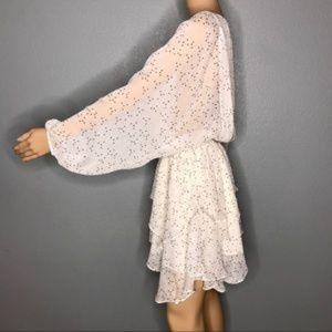 Vici Dresses - Gemini Chiffon Smocked Ruffle Dress